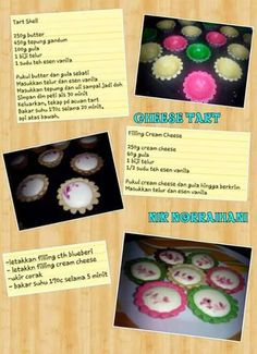 Cheese tart Pie Recipes, Baking Recipes, Snack Recipes, Resep Cake, Snacks Dishes, Cheese Tarts, Biscuit Recipe, Cake Cookies, Bento