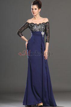 Schulterfrei Fake zweiteilige Brautmutterkleid/ Abendkleid mit Kristall Blumenbrosche - Mode-Top