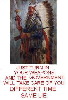 Yeah turning in their weapons and living on reservations worked out so well for the Native Americans.
