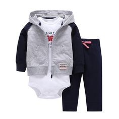 Sets 1 hooded zipper coat + pants + romper fashion cotton 2017 Baby Boy girl Clotheschildren boys cute Clothing free shipping #Fashion clothes Size Height(cm) Weight(KG) Suggested Age Preemie <43cm <2.3kg Premature Newborn(NB) <55cm 2.3-3.6kg Relatively small newborn 3M 55-61cm 3.6-5.7kg Newborn-3 months old 6M 61-67cm 5.7-7.5kg 3 months old-6 months...