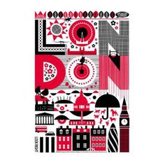 London red tea towel from Tate online shop