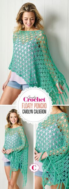 Take this poncho pattern from issue 85 on your summer holiday and you could be modelling your new top by the end of the week. An airy stitch design makes it an über-quick hook, and a perfect poolside layer. Crochet Poncho Patterns, Crochet Cardigan, Crochet Shawl, Simply Crochet, Free Crochet, Knit Crochet, Make Com Glitter, Joelle, Crochet Magazine