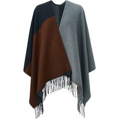 UNIQLO Blanket Scarf ($18) ❤ liked on Polyvore featuring accessories, scarves, uniqlo, blanket scarf, thick scarves, fringe shawl and multi colored scarves