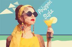 PhotoshopとIllustratorで画像をポリゴン風に加工する方法 Web Grid, Sand And Water, Photoshop Illustrator, Photoshop Tips, Shop Interiors, Design Tutorials, Graphic Design, Watercolor, Illustration