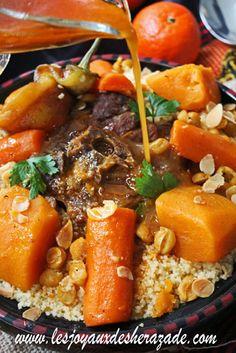 Couscous algérien à l'agneau et aux courges
