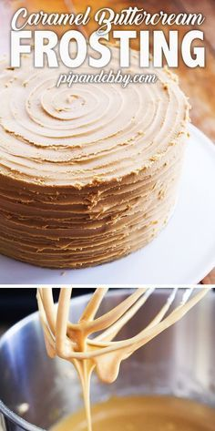 Transform caramel into a decadent and irresistible Caramel Buttercream Frosting! Caramel frosting pairs well with all kinds of baked goods, including cakes, cupcakes, cookies and more! #frosting #buttercream #caramel