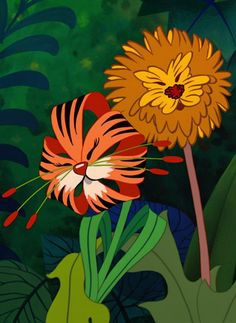 Alice in wonderland. Tiger Lilies meet the Dandelions