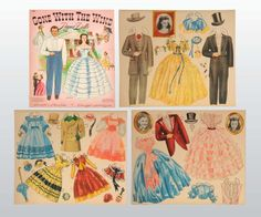 Gone with the Wind Paper Dolls* 1500 free paper dolls The International Paper Doll Society Arielle Gabriel artist #QuanYin5 Twitter, Linked In QuanYin5 *