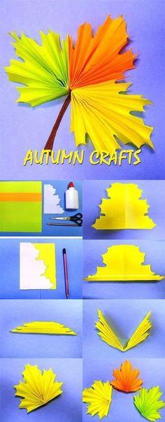 Autumn crafts for preschoolers basteln Fall Crafts For Toddlers, Easy Fall Crafts, Toddler Crafts, Fun Crafts, Diy And Crafts, Arts And Crafts, Leaf Crafts, Preschool Crafts, Paper Flowers