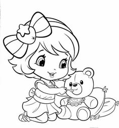 coloring pages little girl young strawberry shortcake - Strawberry Shortcake Coloring Pages