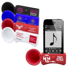Turn up the volume during upcoming events with this awesome giveaway! This 2-in-1 accessory acts as a phone stand and amplification speaker for the iPhone 6. The speaker boosts sound without any electrical power and features a cut out in the bottom for easy cable access (for charging or synching) while your phone is cradled on its side. The high quality smooth textured silicone material is washable and dirt and scratch resistant. #Promo #iPhone6 #Advertising #Events #Speakers…