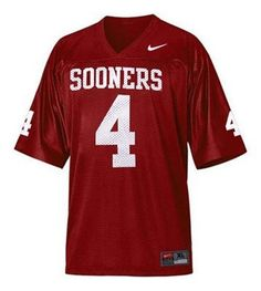 Nike Oklahoma Sooners Number 4 Youth Replica Football Jersey by Nike, Kenny Stills