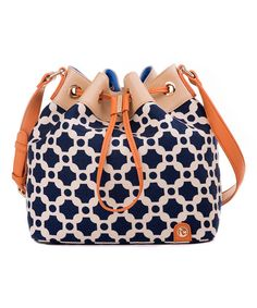 Look at this May River Palmetto Linen & Leather Bucket Bag on #zulily today!