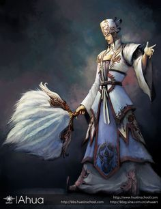 Another contemporary depiction of Zhuge Liang.