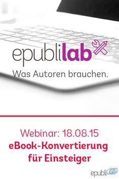 Ihr wollt euer eBook selbst konvertieren? In unserem Webinar am Dienstag, dem 18.08.15, könnt ihr lernen wie das mit Calibre funktioniert. Was ihr sonst noch lernen werdet und alle weiteren Informationen findet ihr hier http://www.epubli.de/lab/webinar_ebook. Ihr braucht in einem anderen Themengebiet Hilfe? Alle künftigen Webinare gibt's unter http://www.epubli.de/lab/epubli-lab-termine #SelfPublishing