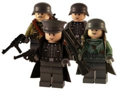 WW2 Lego - German 4 Man Squad - Custom Minifigs