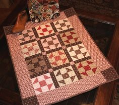 """Shoofly Doll Quilt using the pattern from """"The Civil War Sewing Circle"""" Book"""