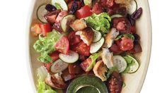 Tomato, Baby-Lettuce, and Olive-Bread Salad
