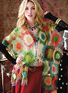 Ravelry: #42 Motif Wrap pattern by Kathy Merrick - my next crochet project
