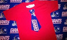 New York Giants Tie Shirt or Onesie $14.00