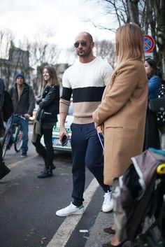 Colorblocking street style during Milan Men's Fashion Week [Photo by Kuba Dabrowski]