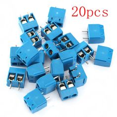 2016 Brand New 20pcs/bag 2 Pin 5.08mm Pitch Blue Connect Terminal Block Terminal Connector Screw Terminal Connector