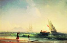 Встреча рыбаков Айвазовский - Иван Константинович Айвазовский - Wikimedia Commons