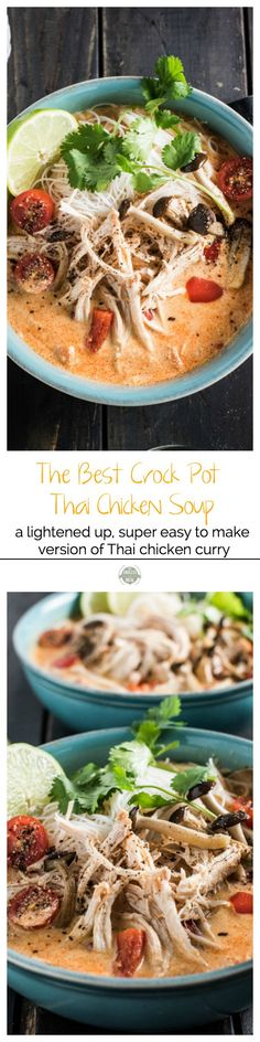 The Best Crock Pot Thai Chicken Soup   The Endless Meal