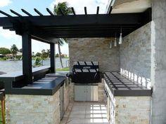 stacked stone outdoor kitchen 40 Fantastic Outdoor Kitchen Designs