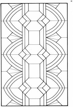 attempt 1 at Stained Glass Designs, Stained Glass Panels, Stained Glass Patterns, Mosaic Patterns, Stained Glass Art, Mosaic Glass, Arte Art Deco, Art Nouveau, Art Deco Pattern