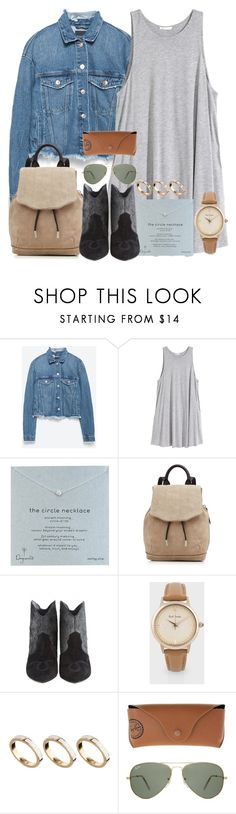 """Ranch"" by ari-rogers ❤ liked on Polyvore featuring Zara, H&M, Dogeared, rag & bone, Lola Cruz, Paul Smith, ASOS and Ray-Ban"