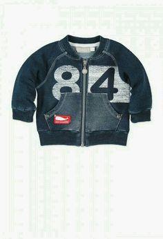 Fleece jacket denim stretch for baby boy Toddler Boy Outfits, Toddler Boys, Kids Boys, Kids Outfits, Baby Boy Fashion, Kids Fashion, Baby Boy Jackets, Kids Clothes Sale, Stylish Boys