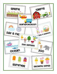 Labels to Organize Preschool Theme Boxes