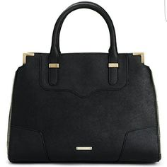 REBECCA MINKOFF AMOROUS HANDBAG! Black saffiano leather, perfect for everyday. Gold hardware, includes dust bag and adjustable shoulder strap. Great condition! Gently used, No scuffs or scratches .Authentication card and tags. NoTrades Rebecca Minkoff Bags Satchels