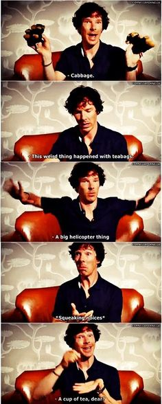 His explanation of how Sherlock survived...I want to throttle and hug him at the same time.