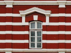 Building Face With Red And White Bricks Building Facade, Old Building, Red Bricks, Red And White, Architecture, Photography, Beautiful, Photograph, Architecture Illustrations