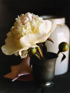 Use my vintage cup with the silk flowers