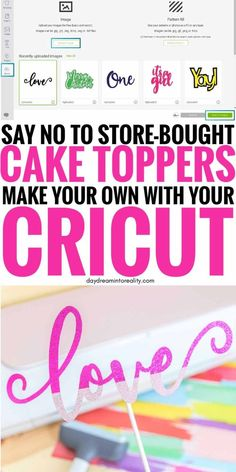 Cricut Cake, Diy Cake Topper, Cake Toppers, Crafts For Teens To Make, Diy And Crafts, Do It Yourself Jewelry, Cricut Tutorials, Cricut Creations, Cake Tutorial