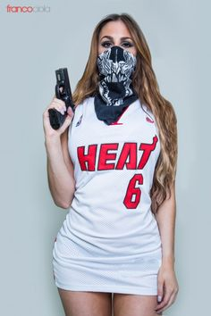 Gaby Barcelo Miami Heat by – Franco Ciola (Find me an OKC fan that looks like this)