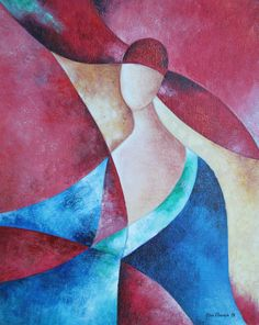 """Painting """" Lady in Red """" , contemporary painting , art, art , contemporary, original, acrylic , woman, elegance , art, painting , art"""
