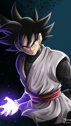 Goku Black By: Yamasan Dragon Ball Gt, Black Goku, Black Dragon, Dragonball Anime, Super Goku, Super Saiyan, Evil Goku, Goku Y Vegeta, Son Goku
