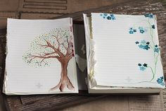 DIY homemade stationary idea. Good way to use up leftover pages in old journals...