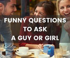 Need your daily laugh? Ask someone some of these questions. Questions To Ask Guys, Online Dating Questions, Questions To Get To Know Someone, Funny Questions, Getting To Know Someone, Icebreaker Questions, Deep Questions, Funny Conversation Starters, Conversation Starter Questions