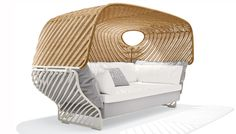 Outdoor Tigmi Lounger designed by Jean-Marie Massaud for Dedon (=)
