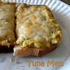 Tuna Melt with a spicy kick - That Recipe  #tunamelt #tunarecipe #sandwichrecipe