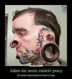 35 Examples of Weird Tattoos and Piercing Weird Tattoos, Face Tattoos, Funny Tattoos, Body Art Tattoos, Navel Piercing, Body Piercings, Crazy Piercings, Funny Pictures Images, Type Tattoo