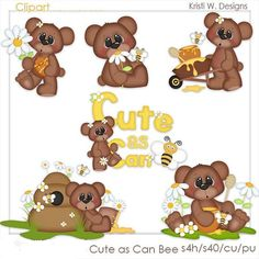 DIGITAL SCRAPBOOKING CLIPART - Cute As Can Bee