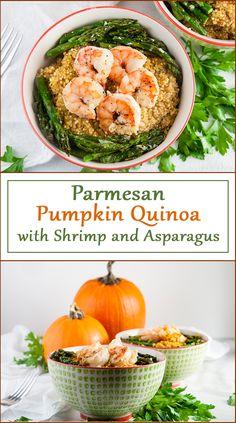 Parmesan Pumpkin Quinoa from www.SeasonedSprinkles.com