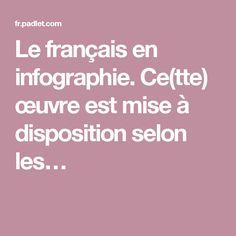 Le français en infographie. Ce(tte) œuvre est mise à disposition selon les…