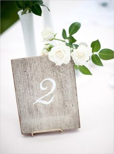 Driftwood table numbers